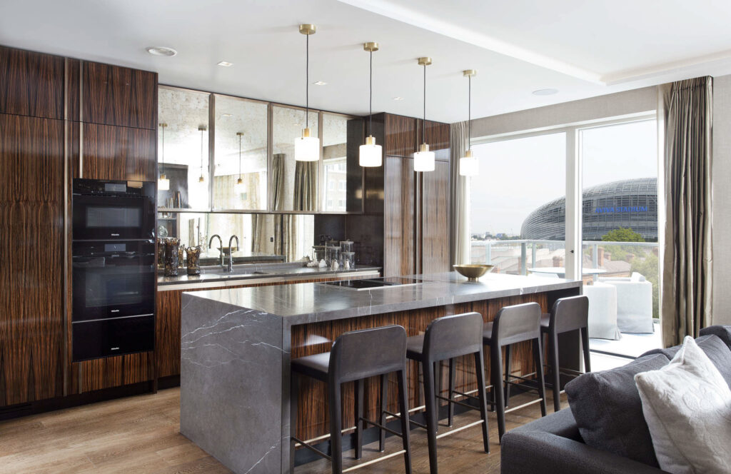 Dublin Lansdowne Place Penthouse Contemporary Kitchen